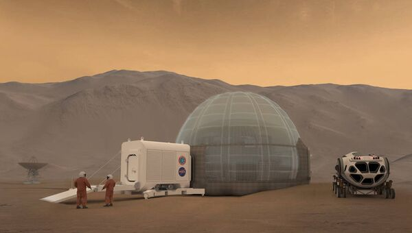 Проект возможной жизни на Марсе. Архивное фото