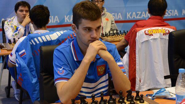 Максим Матлаков во время шахматного турнира. Архивное фото