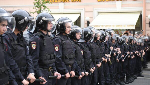 Полиция на Тверской улице в Москве. 12 июня 2017