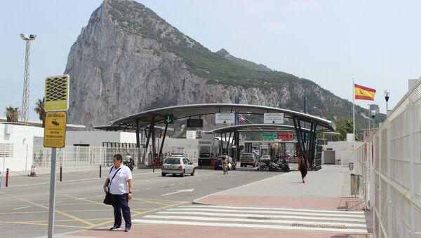 Граница Гибралтара с Испанией. Архивное фото