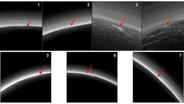 Семь потенциальных облаков на поверхности Плутона