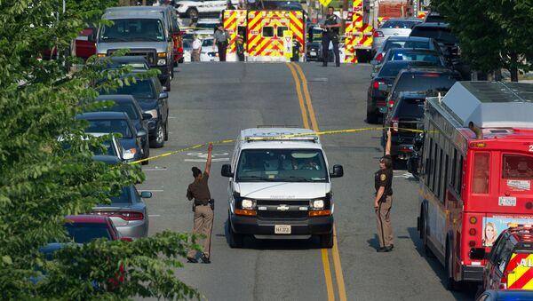 Место нападения на конгрессмена Стива Скализа в Александрии, штат Вирджиния