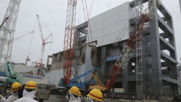 Работы по ликвидации последствий аварии на АЭС Фукусима-1 в Окуме, Япония