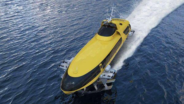 Морское пассажирское судно на подводных крыльях нового поколения Комета 120М