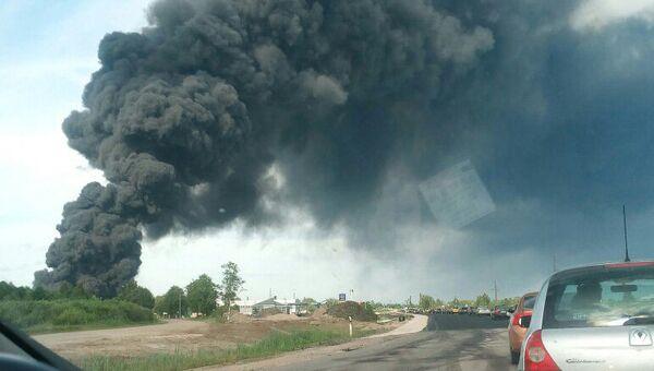 Крупный пожар на свалке в Юрмале