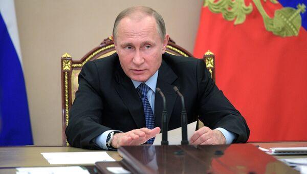 Президент РФ Владимир Путин проводит совещание по экономическим вопросам. 19 июня 2017
