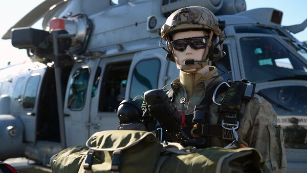 Военная амуниция на Международном авиасалоне Ле Бурже - 2017 во Франции