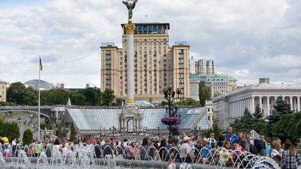 В центре Киева. Архивное фото