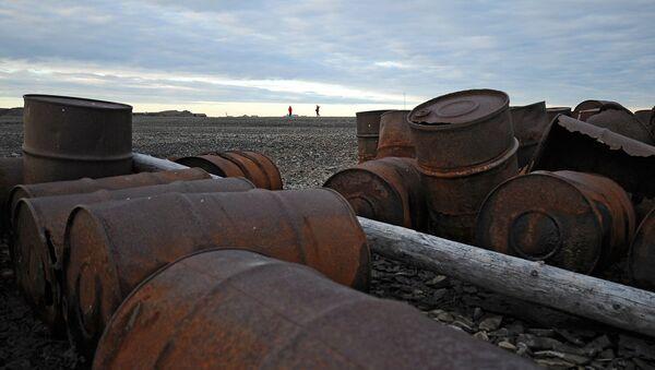Сбор металлолома на острове Врангеля. Архивное фото