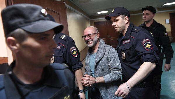 Бывший директор Гоголь-центра Алексей Малобродский в Пресненском районном суде Москвы. 21 июня 2017