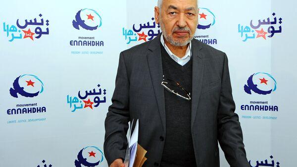 Лидер тунисской исламистской партии Ан-Нахда Рашид Ганнуши