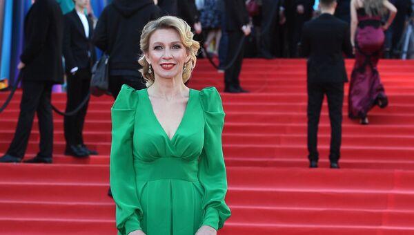 Официальный представитель министерства иностранных дел России Мария Захарова на церемонии открытия 39-го Московского международного кинофестиваля в Москве