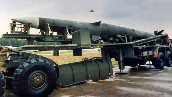 Американская баллистическая ракета средней дальности Першинг-2. Архивное фото