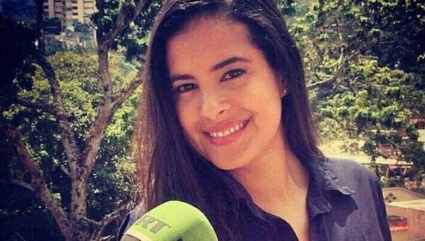 Корреспондент RT в Венесуэле Эрика Ортега Саноха. Архивное фото