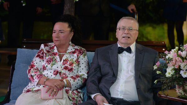 Лидер ЛДПР Владимир Жириновский с супругой Галиной Лебедевой