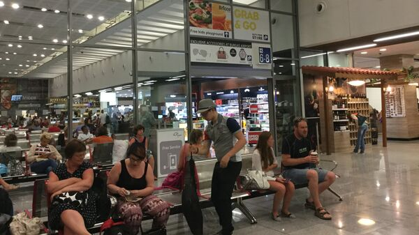 Зона вылета болгарского аэропорта Бургас