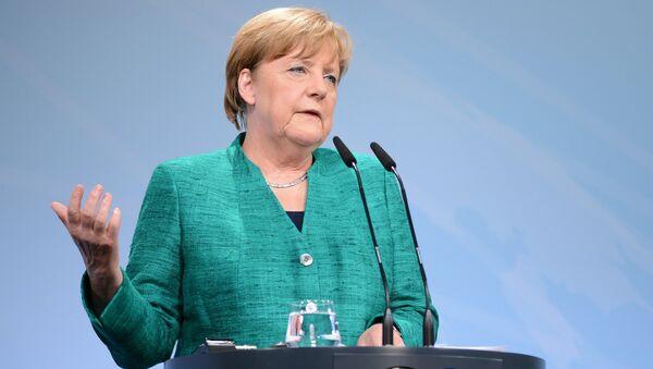 Канцлер Германии Ангела Меркель на саммите Группы двадцати в Гамбурге. 8 июля 2017