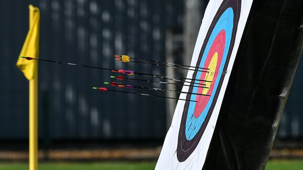 Во время соревнований по стрельбе из лука. Архивное фото