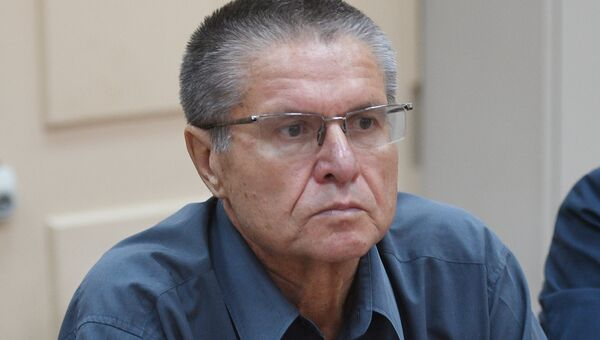 Бывший министр экономического развития РФ Алексей Улюкаев в зале Басманного суда города Москвы. 13 июля 2017
