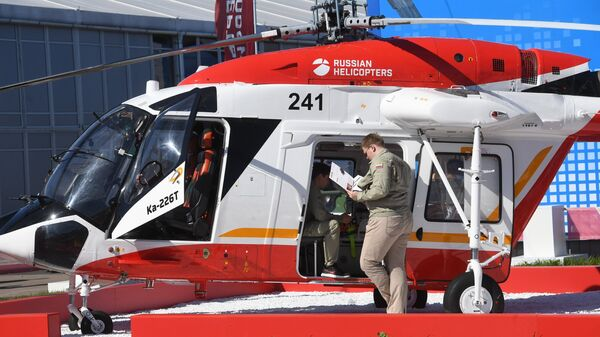 Вертолет Ка-226Т, представленный на Международном авиационно-космическом салоне МАКС-201 в подмосковном Жуковском. Архивное фото
