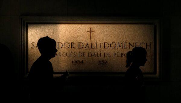 Могила Сальвадора Дали в театре-музее Дали в Фигерасе. Архивное фото