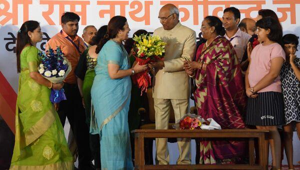 Кандидат правящей коалиции Индии Рам Натх Ковинд, одержавший победу на выборах в Нью-Дели. 20 июля 2017