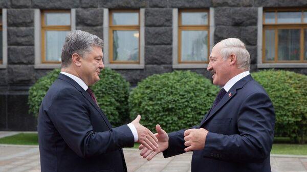 Встреча президентов Украины и Белоруссии Петра Порошенко и Александра Лукашенко