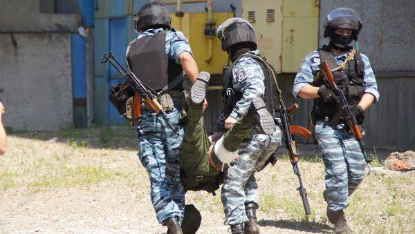 Военные учения по противодействию ССО и ДРГ в Луганске при участии МВД, МГБ, МЧС и Народной милиции ЛНР. 21 июля 2017