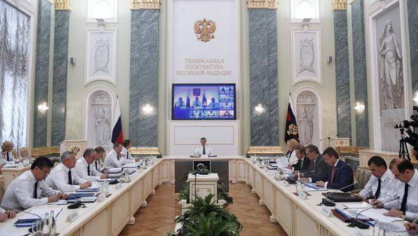 Заседаниие коллегии Генеральной прокуратуры РФ в Москве. 27 июля 2017