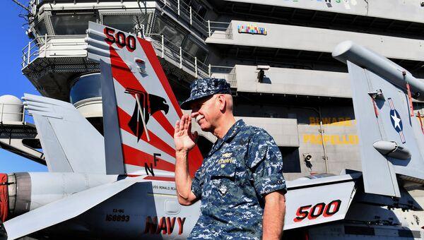 Командир Тихоокеанского флота США Скотт Свифт во время учений в Австралии. 25 июля 2017