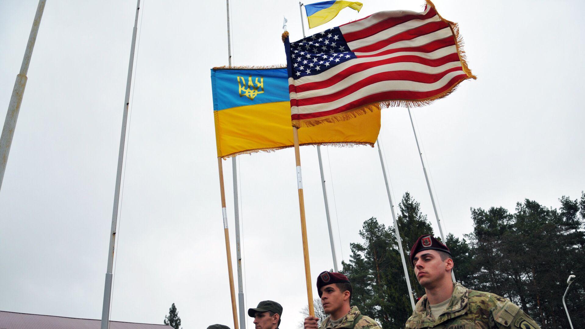 Военнослужащие 173-й бригады армии США перед началом украинско-американских командно-штабных учений Фиарлес Гардиан - 2015 - РИА Новости, 1920, 20.06.2021