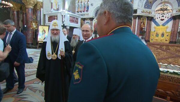 Путин в день Военно-морского флота осмотрел Никольский морской собор в Кронштадте