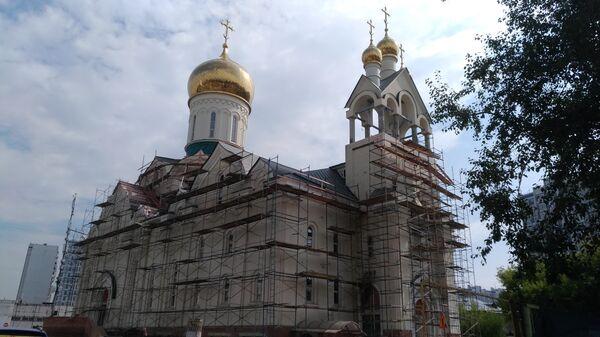 Строящийся храм Андрея Рублева в Раменках