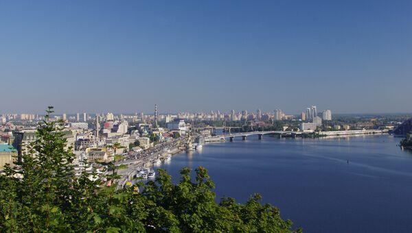 Вид Киева, Украина. Архивное фото.