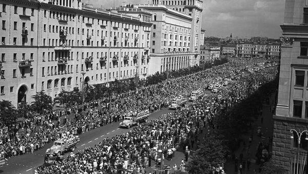 VI Всемирный фестиваль молодежи и студентов в Москве, 28 июля 1957 год