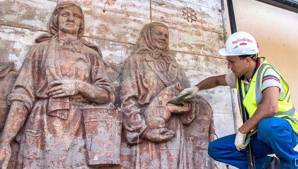 Барельефы, обнаруженные в ходе реставрации
