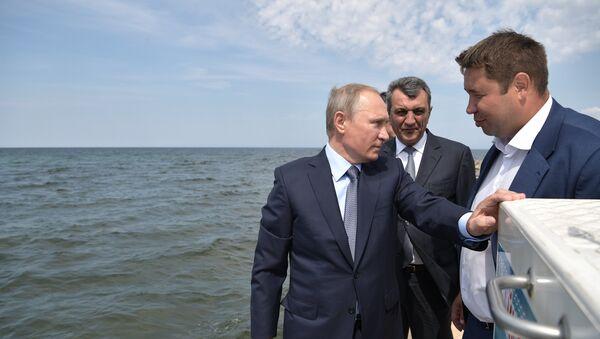 Президент РФ Владимир Путин в Байкальском государственном природном биосферном заповеднике. 3 августа 2017