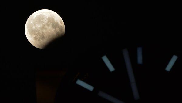 Фаза частичного лунного затмения, наблюдаемая в Грозном