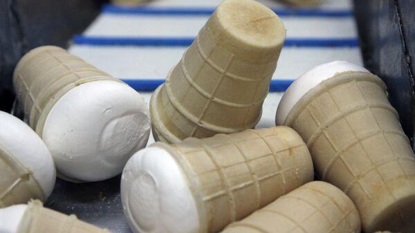 Производственная линия по изготовлению пломбира в вафельных стаканчиках на ООО Винтерпром в Донецке