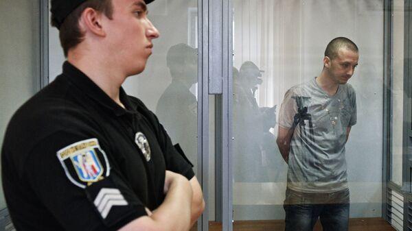 Максим Одинцов на заседании Дарницкого районного суда Киева. 8 августа 2017