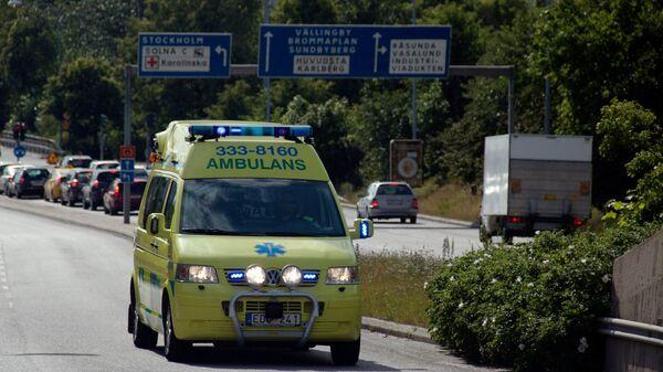 Машина скорой помощи в Швеции. Архивное фото