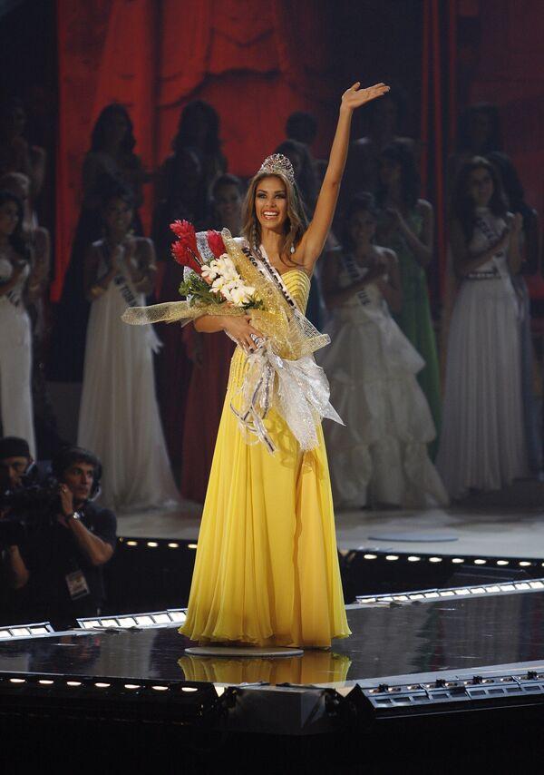 Представлявшая Венесуэлу 22-летняя брюнетка Дайана Мендоса завоевала титул Мисс Вселенная