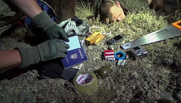 Вещи, изъятые у гражданина Украины Геннадия Лимешко во вемя задержания управлением ФСБ России по Республике Крым. 15 августа 2017