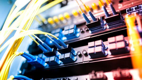 Серверы в технологическом центре обработки данных