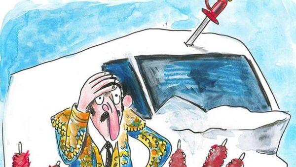 Карикатура журнала Charlie Hebdo на теракт в Барселоне