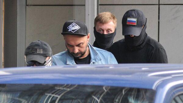 Режиссер Кирилл Серебренников после допроса в СК РФ в Техническом переулке. 22 августа 2017
