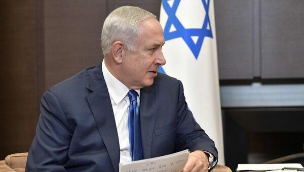 Премьер-министр Израиля Биньямин Нетаньяху во время встречи с президентом РФ Владимиром Путиным. 23 августа 2017
