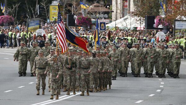 Военнослужащие США на параде ко Дню Независимости Украины в Киеве. 24 августа 2017