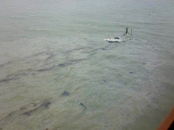 Последствия шторма в Керченском проливе