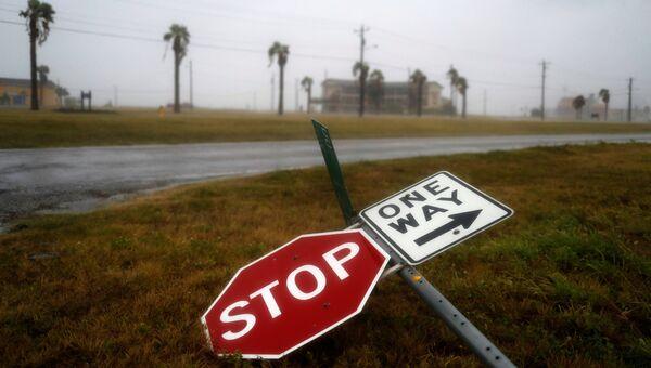 Ураган Харви в городе Корпус-Кристи , штат Техас, США. 25 августа 2017